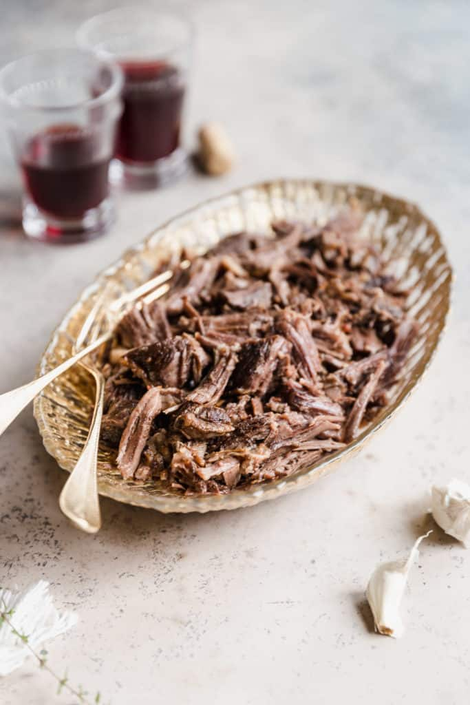 pulled braised beef short ribs