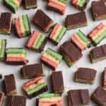 sliced italian rainbow cookies