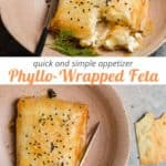 phyllo-wrapped feta appetizer