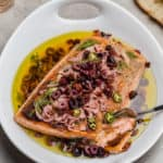 salmon with olive oil and vinegar marinade