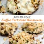 quick and simple stuffed mushrooms