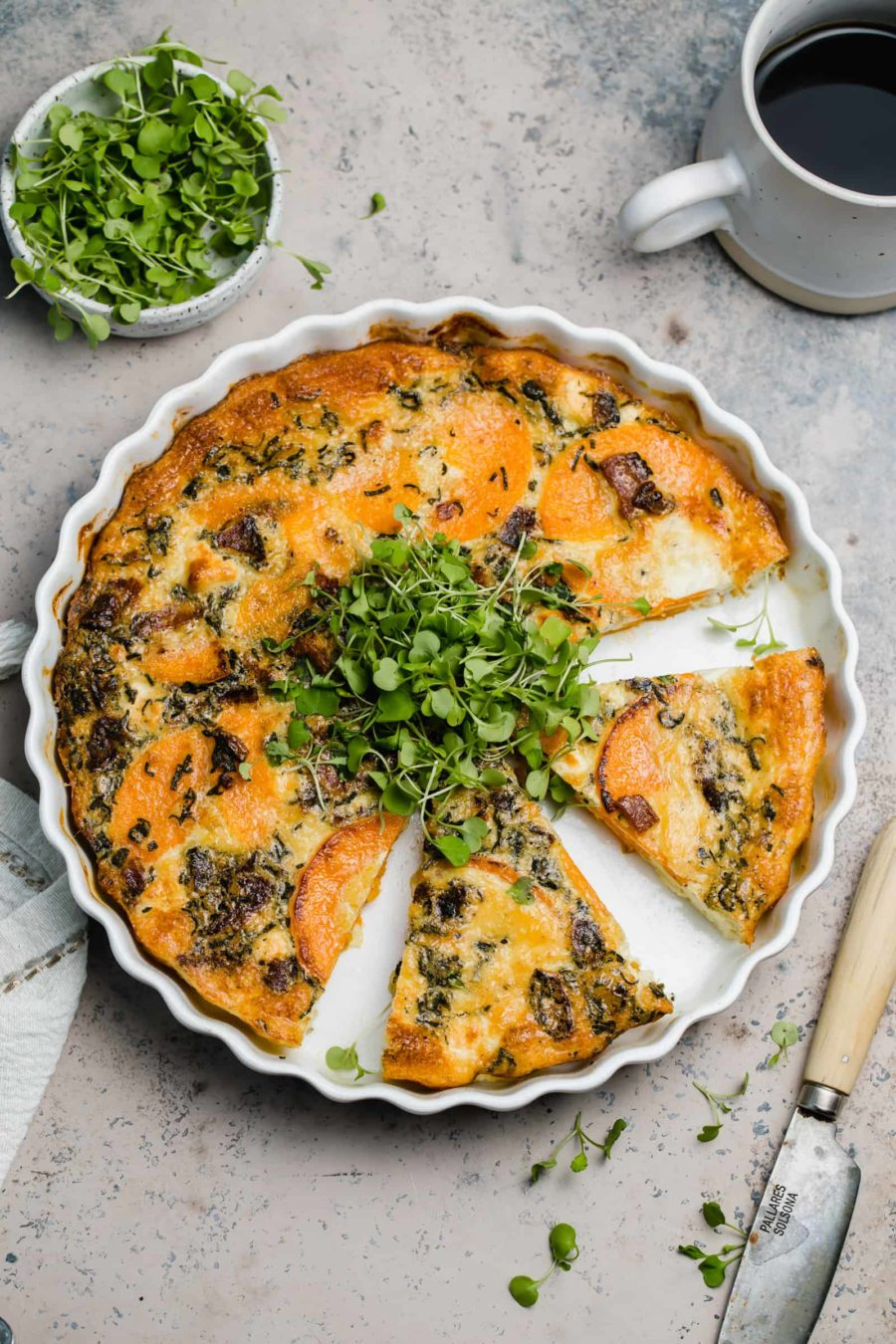 Butternut Squash Quiche with Goat Cheese