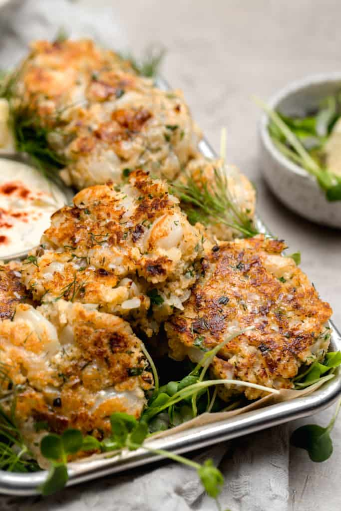 cod cakes with fresh herbs