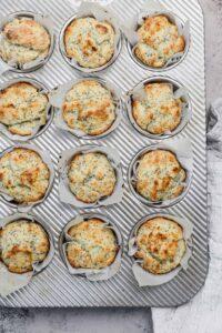 lemon muffins in a muffin tin