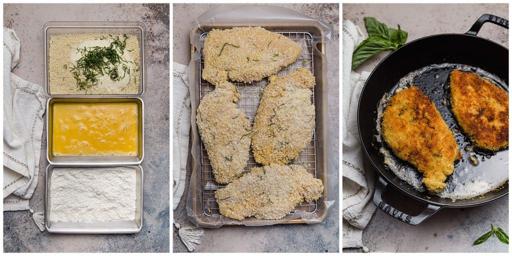 how to bread chicken with panko and parmesan