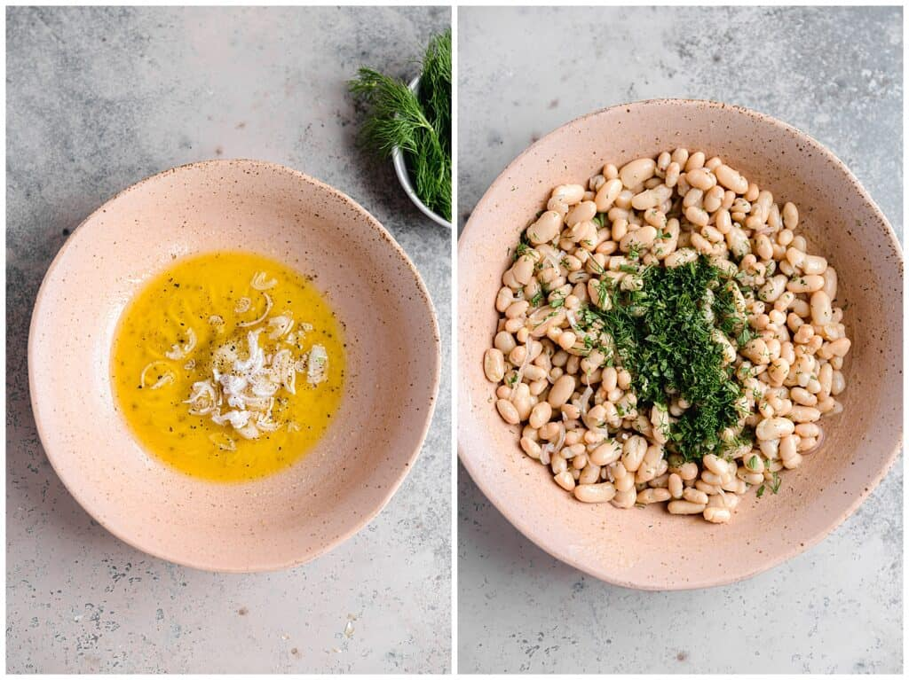 how to make marinated white bean salad