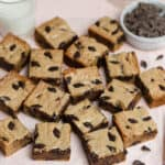 browned butter blondies with chocolate chips