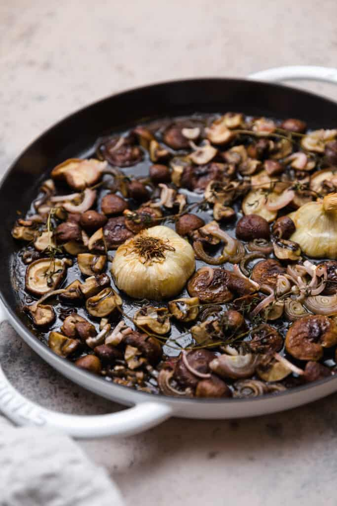 roasted mushrooms, shallots, garlic, and thyme