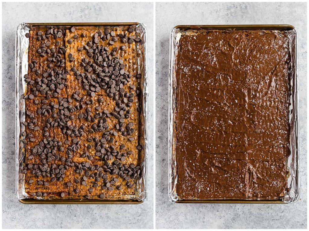 chocolate covered matzo crack