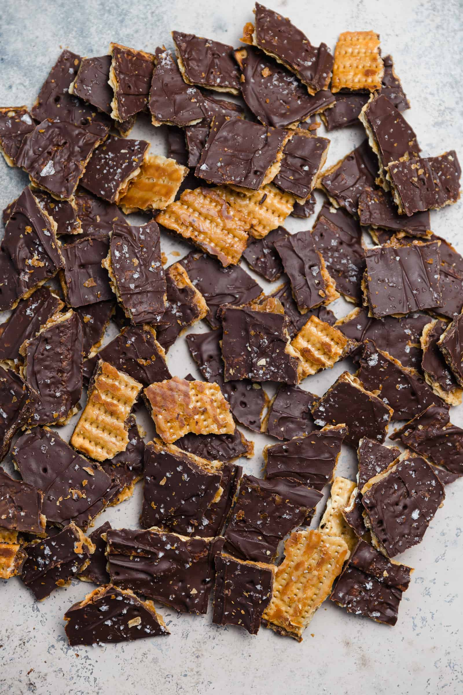 chocolate toffee covered matzo crack