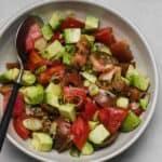 quick tomato salad with avocado and scallions
