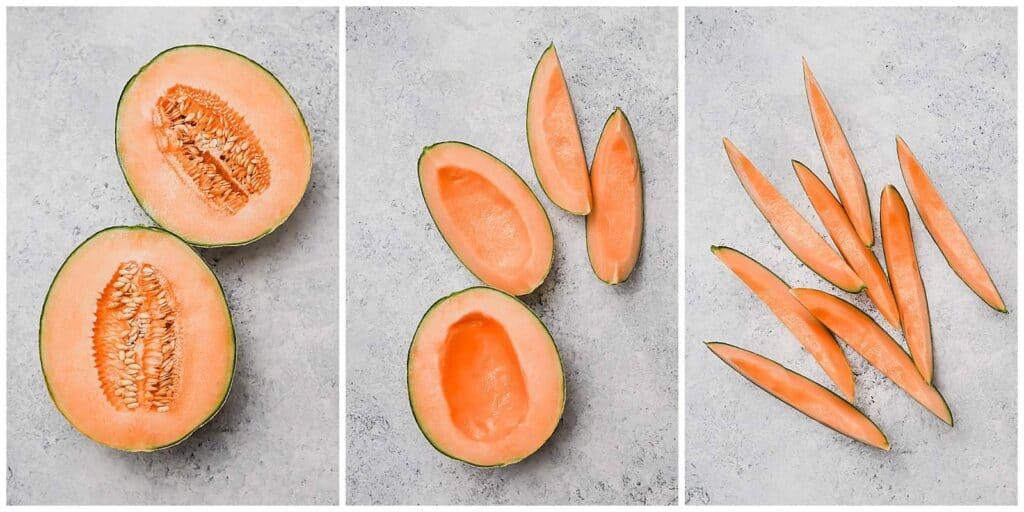 How to cut and quarter a cantaloupe