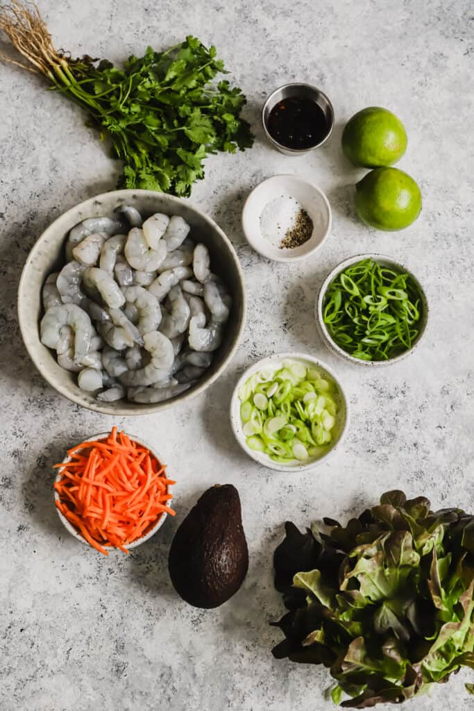Shrimp lettuce wraps ingredients