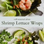 shrimp lettuce wraps with cilantro and lime