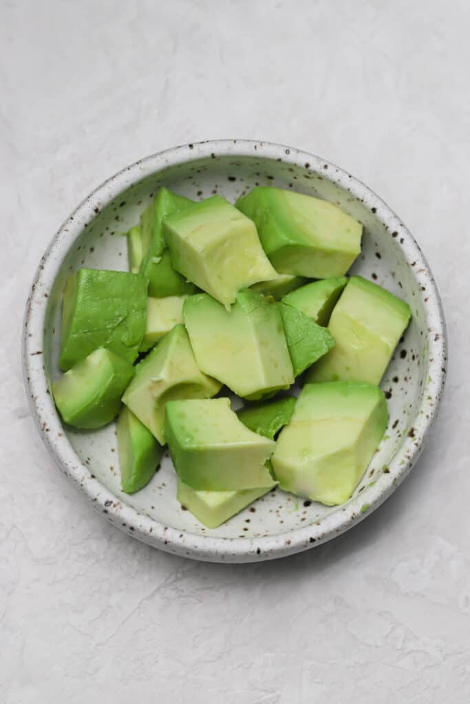 diced avocado in a bowl