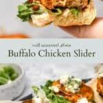 buffalo chicken slider pinterest graphic