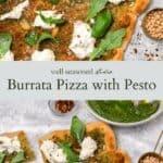 burrata pizza pinterest graphic