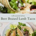 Lamb tacos pinterest graphic
