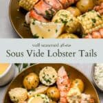 sous vide lobster tail pinterest graphic