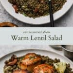lentil salad pinterest graphic