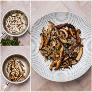 Sautéed shiitake mushrooms and shallots