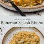 Butternut squash risotto pinterest graphic