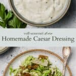 Caesar Salad Dressing pinterest graphic