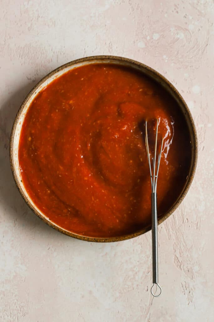 Homemade cocktail sauce in a bowl