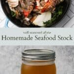Seafood stock pinterest graphic