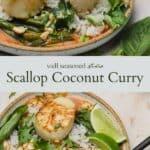 Thai scallop curry pinterest graphic