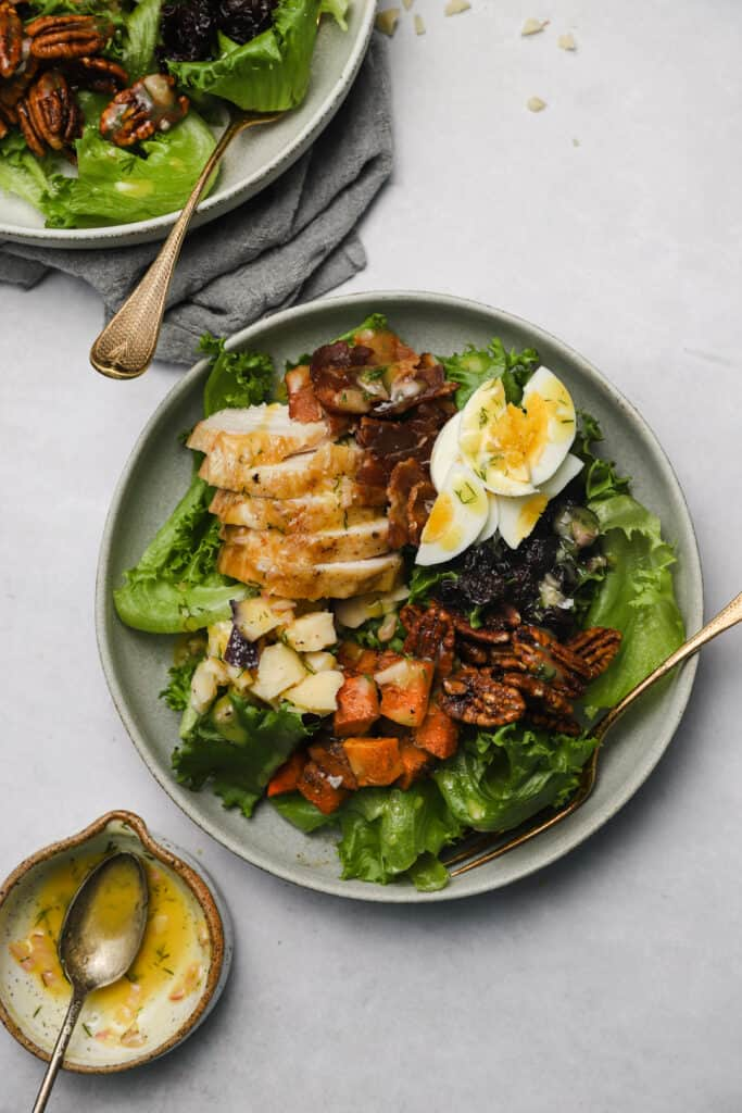 Autumn cobb salad with Dijon vinaigrette