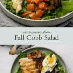Fall Cobb Salad pinterest graphic
