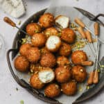 Fried goat cheese balls with truffle honey