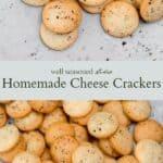 Homemade Cheese Crackers pinterest graphic