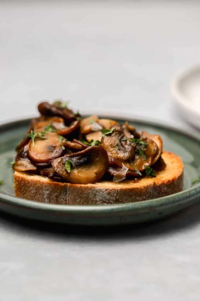 Sautéed marsala mushrooms on toast