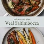 Veal saltimbocca pinterest graphic