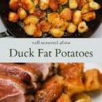 Duck fat potatoes pinterest graphic