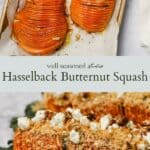Hasselback butternut squash pinterest graphic