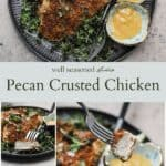 Pecan crusted chicken pinterest graphic
