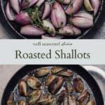 Roasted shallots pinterest graphic