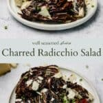 Charred Radicchio Salad pinterest graphic