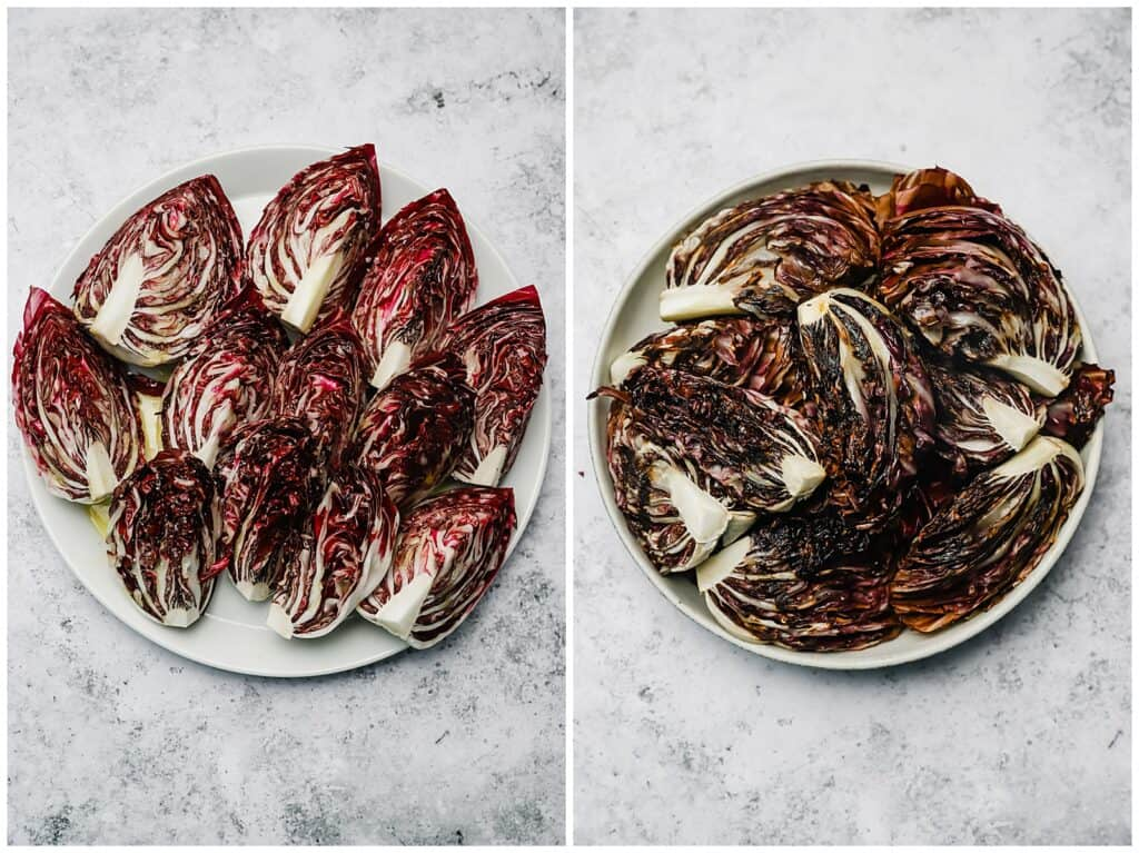 Charred radicchio after cooking