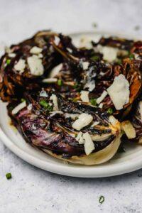 Charred radicchio salad with cheese