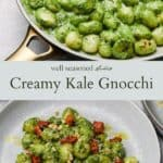 Kale Gnocchi pinterest graphic
