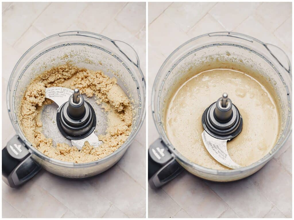Processing hazelnut butter after 5 minutes