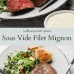 Sous vide filet mignon pinterest graphic