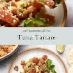 Tuna Tartare pinterest graphic