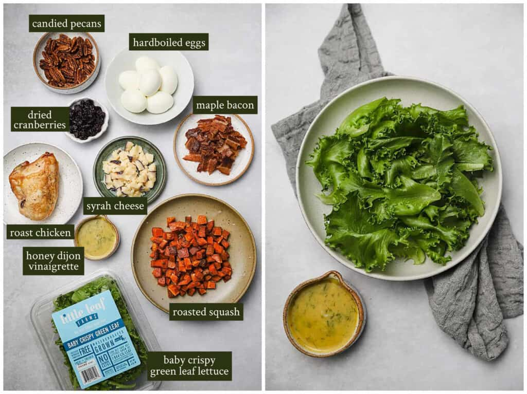 Ingredients for fall cobb salad