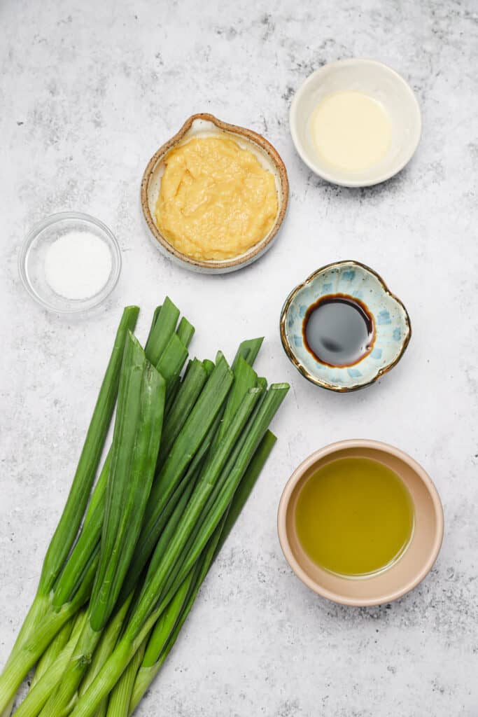 Ingredients for ginger scallion sauce