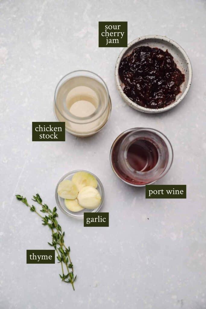 Port cherry sauce ingredients